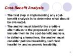 cost benefit analysis44
