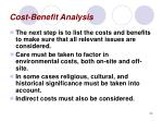 cost benefit analysis45