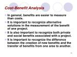 cost benefit analysis46