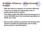 economic efficiency gross domestic product10