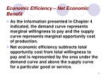 economic efficiency net economic benefit