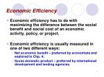 economic efficiency