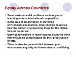 equity across countries