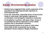 equity environmental justice
