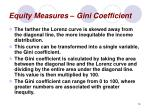 equity measures gini coefficient