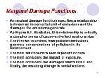 marginal damage functions