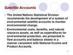 satellite accounts