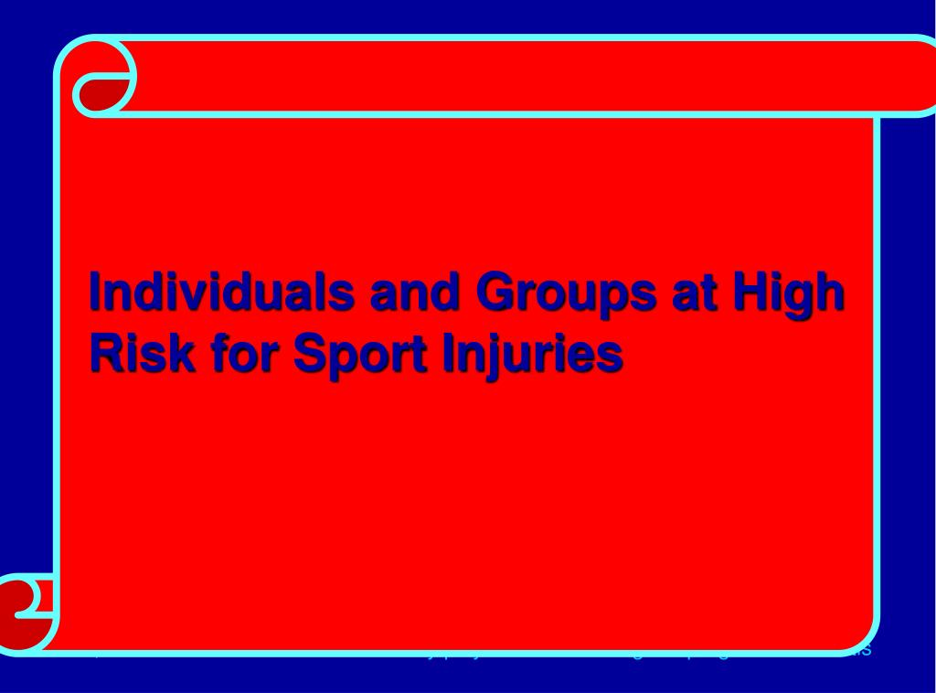 High Risk Individuals (Vulnerable Groups)