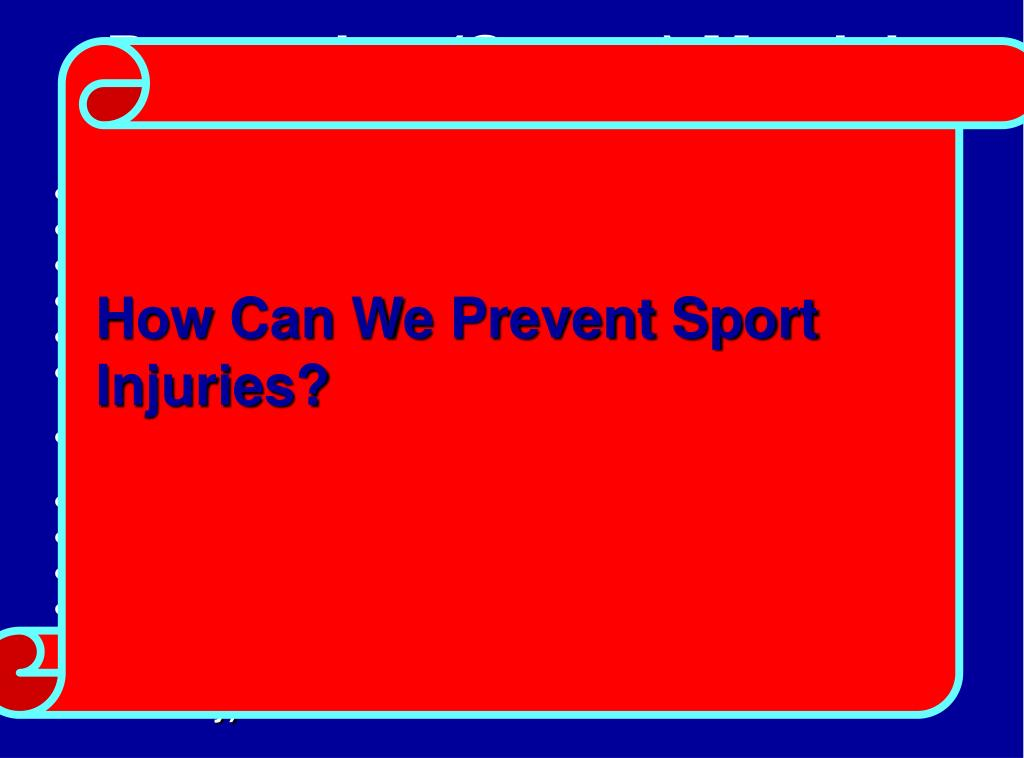 Preventing (Sports) Martial Arts Injuries