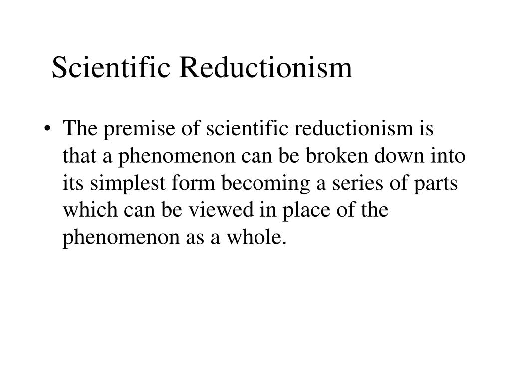 scientific reductionism l.