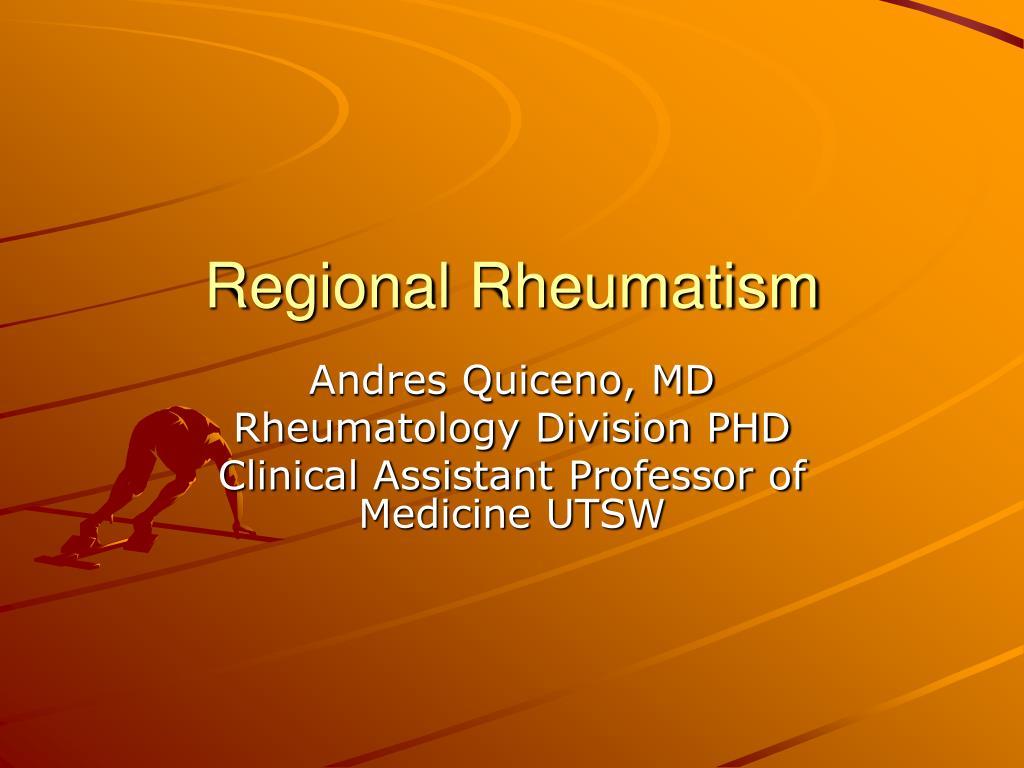 regional rheumatism l.