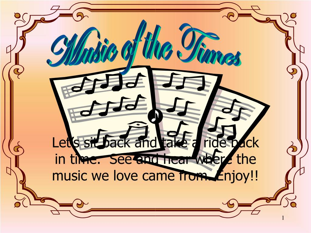 let s sit back and take a ride back in time see and hear where the music we love came from enjoy l.