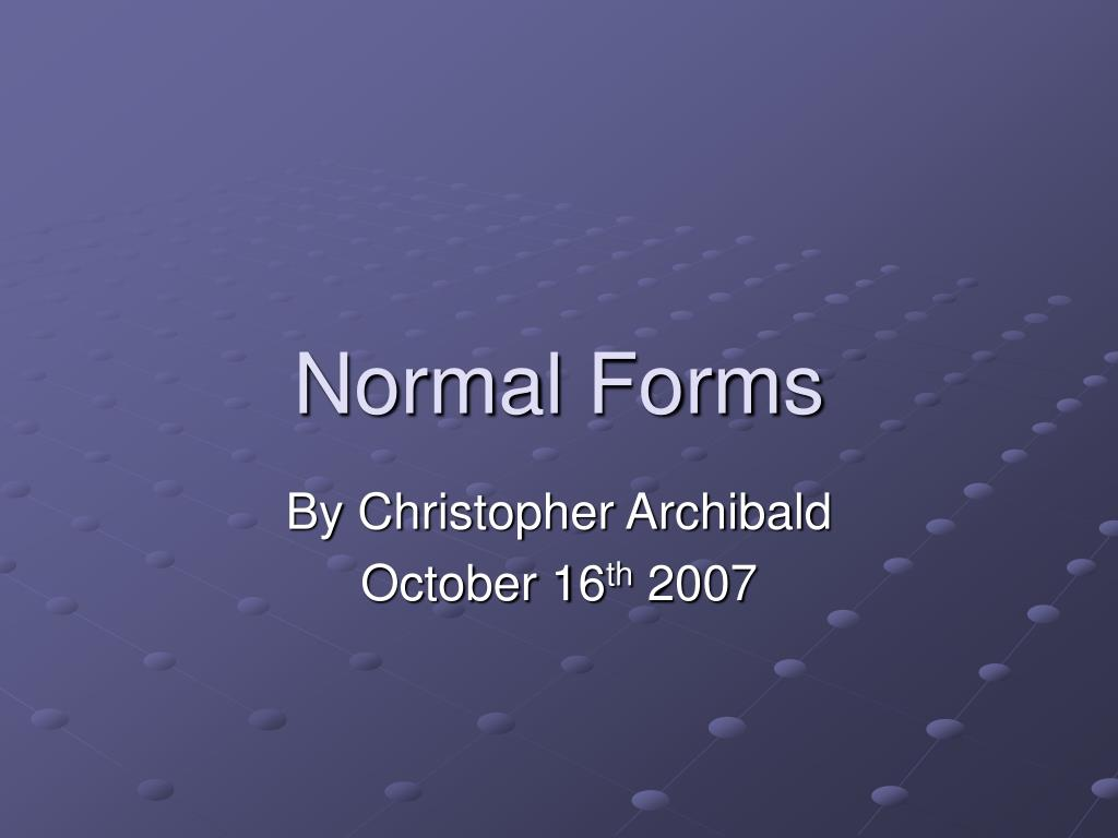 normal forms l.
