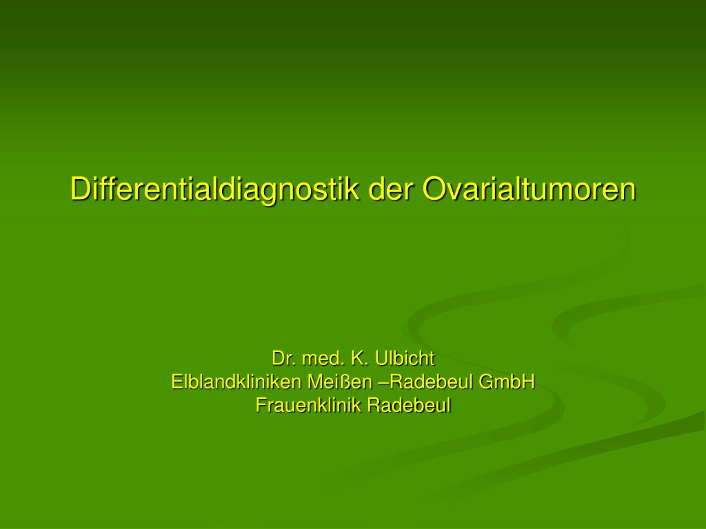 differentialdiagnostik der ovarialtumoren l.