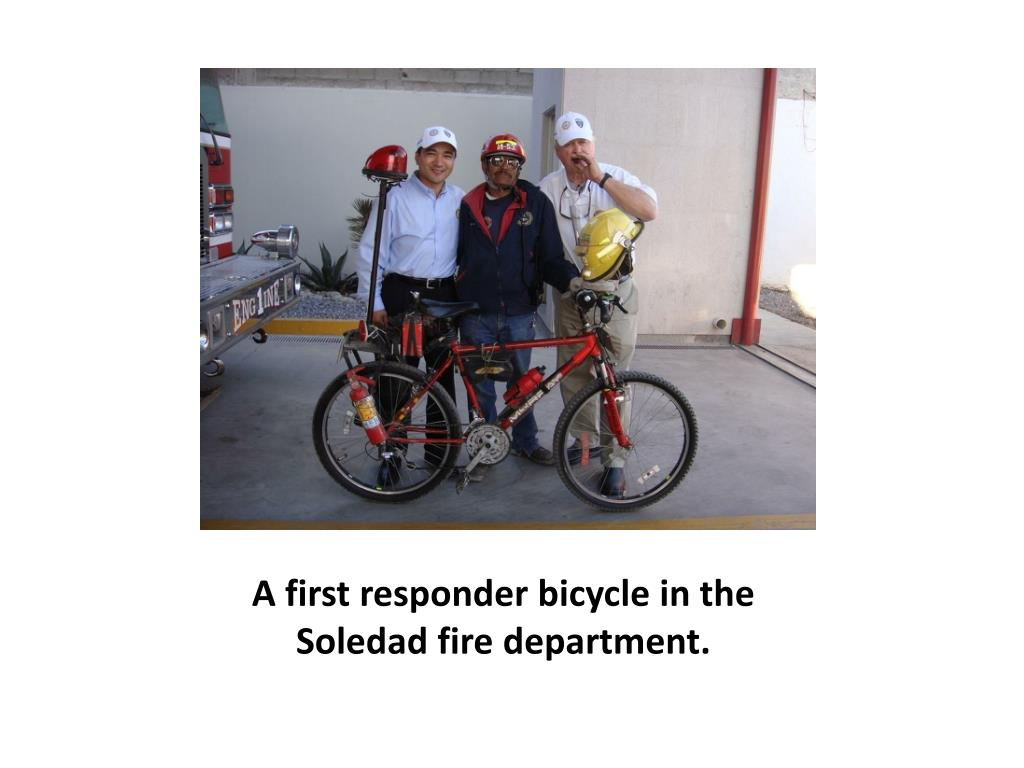 A first responder bicycle in the Soledad fire department.