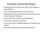 activities hosted by mayor