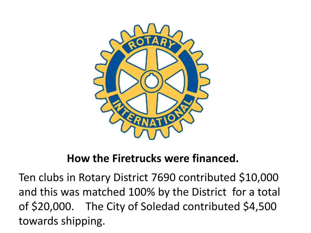 How the Firetrucks were financed.