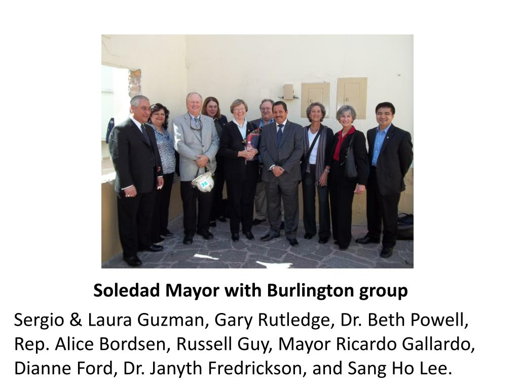 Soledad Mayor with Burlington group