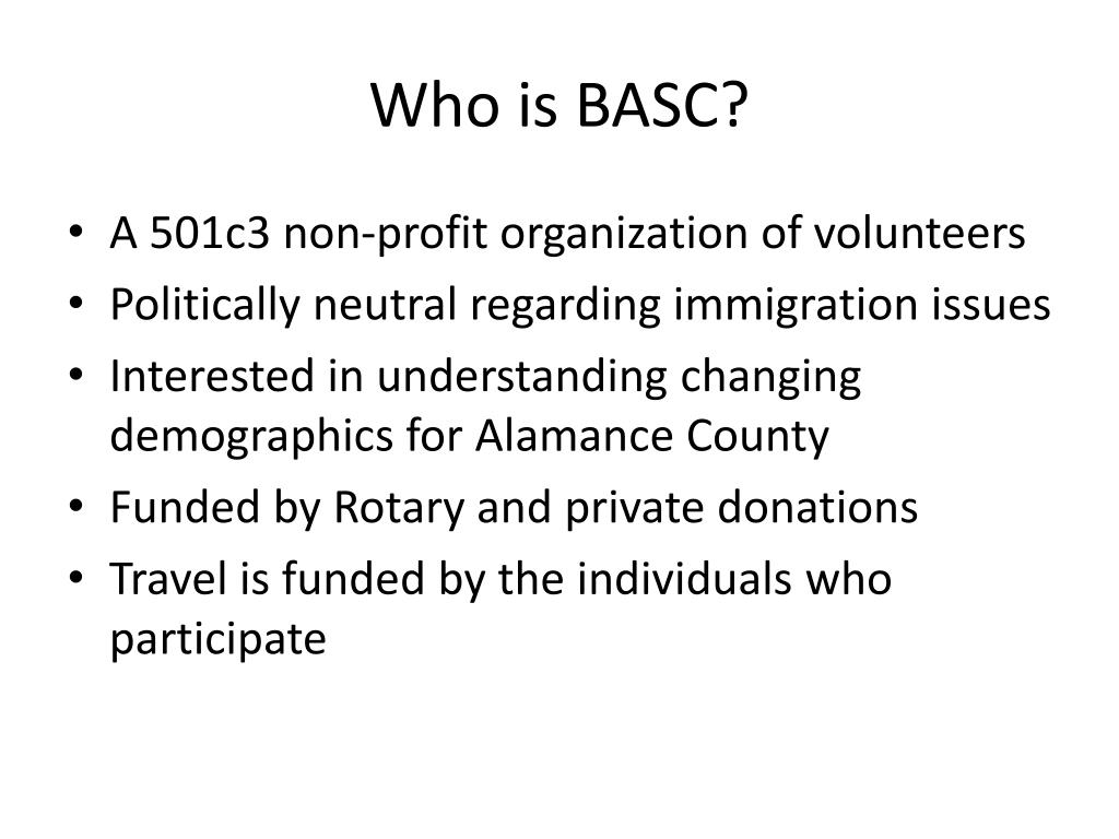 Who is BASC?