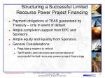 structuring a successful limited recourse power project financing16