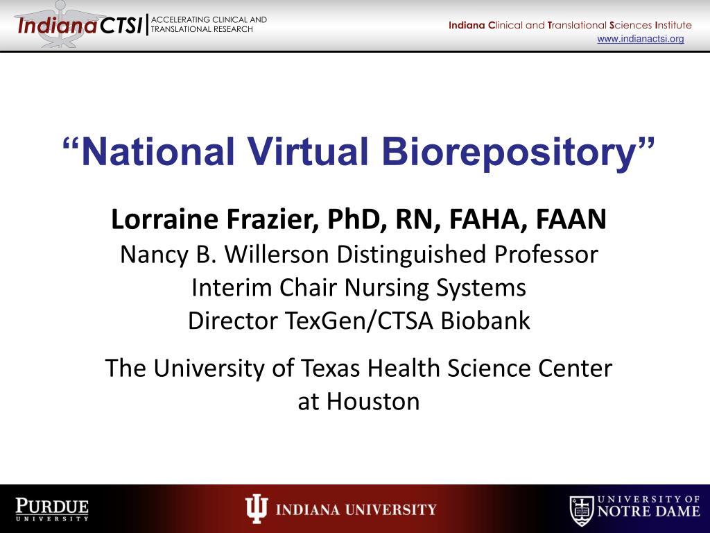 national virtual biorepository l.