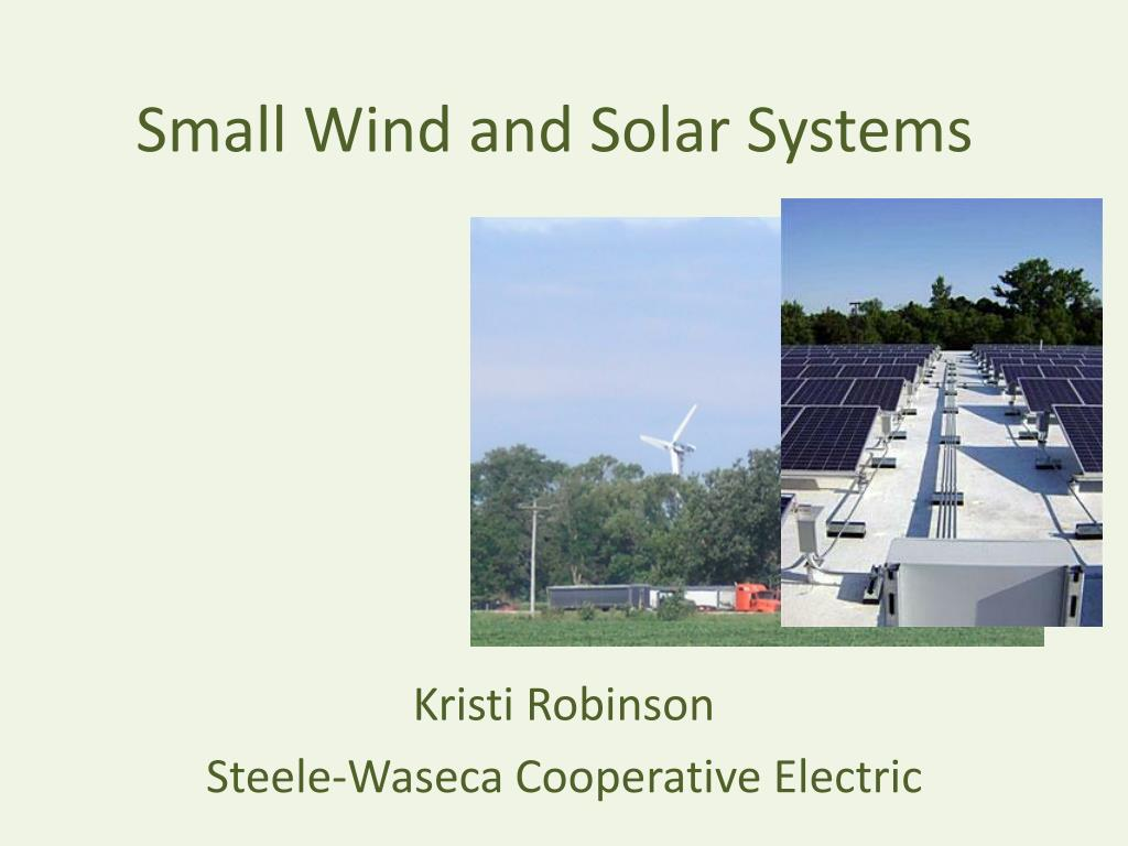 small wind and solar systems l.