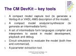 the cm devkit key tools