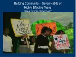 building community seven habits of highly effective teens seek first to understand