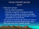 using linkedin groups cont