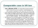 comparable case in us law