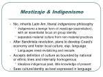 mestizaje indigenismo