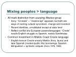 mixing peoples language