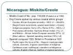 nicaragua miskito creole