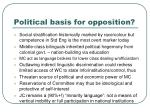 political basis for opposition