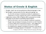 status of creole english