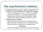 the way forward in jamaica