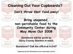 cleaning out your cupboards