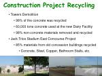 construction project recycling