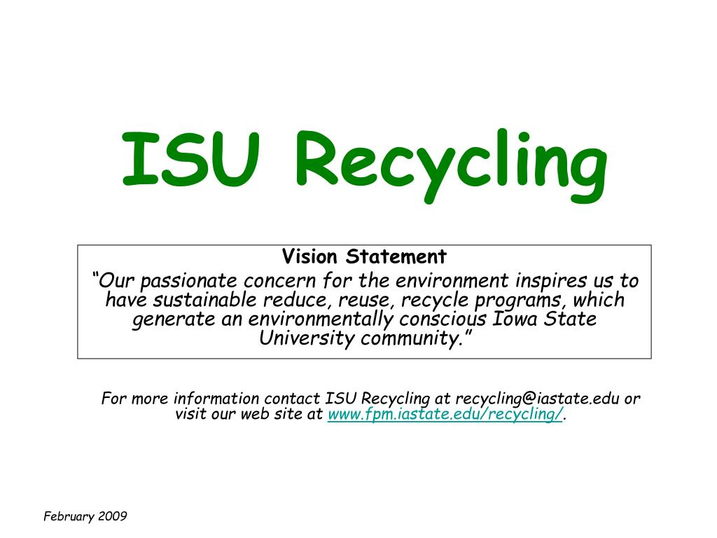 isu recycling l.