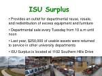 isu surplus