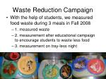 waste reduction campaign