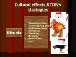 cultural effects tdb s strategies