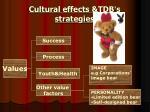 cultural effects tdb s strategies12