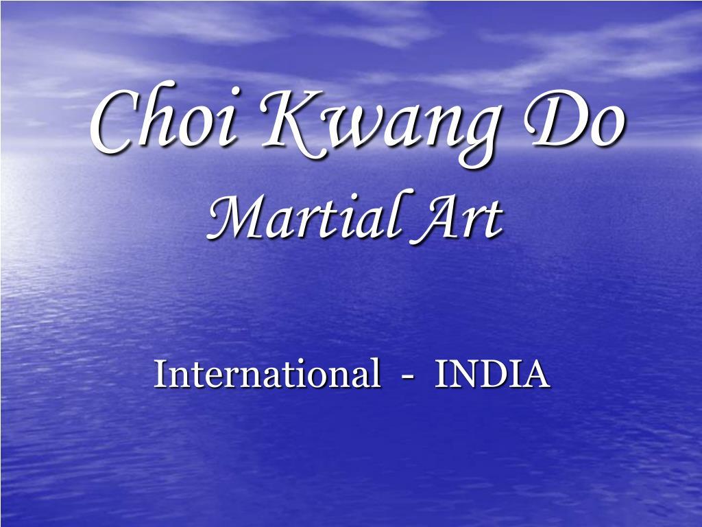 choi kwang do martial art l.