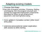 adapting existing models13