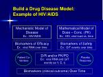 build a drug disease model example of hiv aids