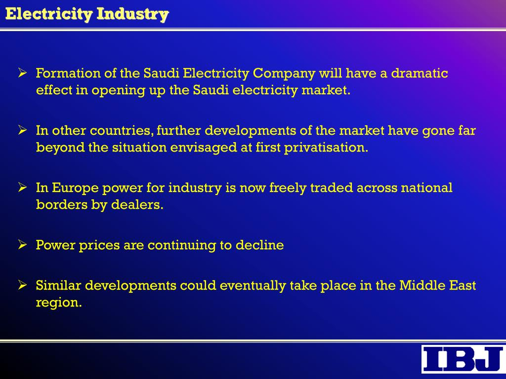 Electricity Industry