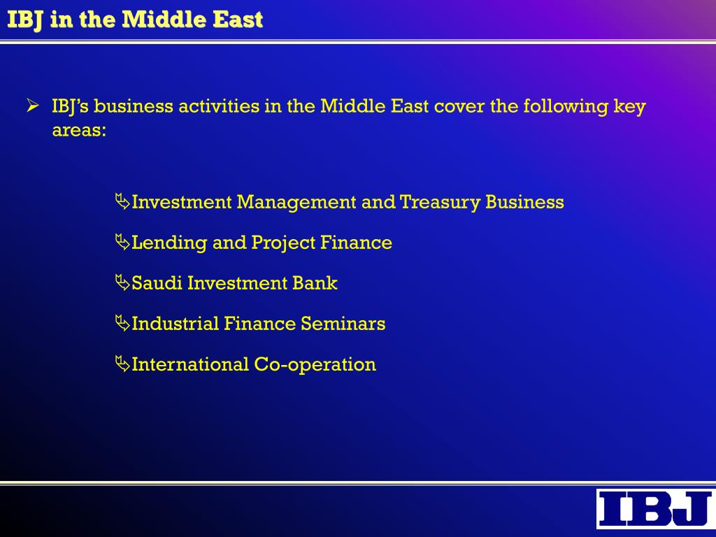IBJ in the Middle East