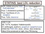 statins best ldl reduction
