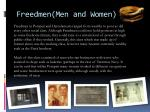 freedmen men and women